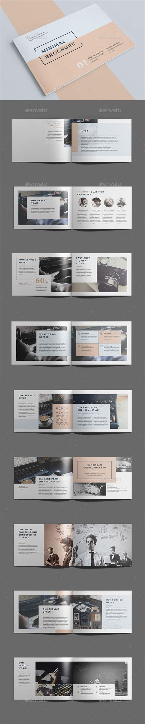 Pin By Best Graphic Design On Brochure Templates Graphic Design Layouts Booklet Design Design Indesign Landscape Template