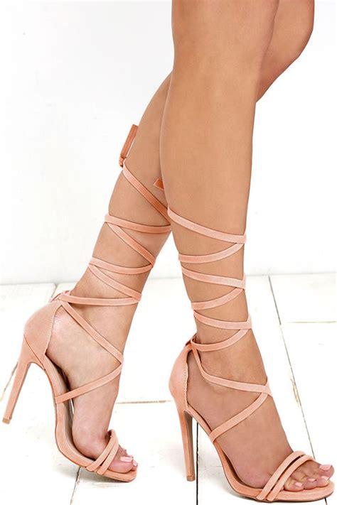 Big Ribbon Shoes Murah Meriah lace up heels dress sandals heels 31 00