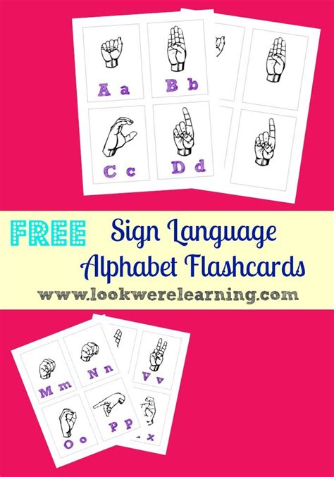 printable sign language flashcards for toddlers free printable sign language alphabet flashcards