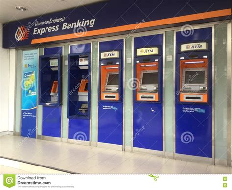 bngkok bank atm of bangkok bank company limited editorial stock