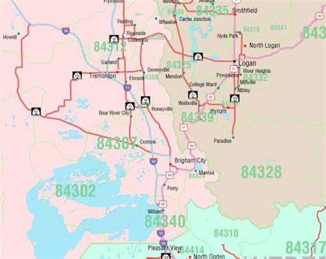 zip code map ut utah zip code map
