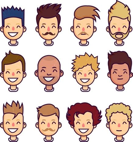 hairstyles cartoon characters men hairstyle collection portrait design cartoon