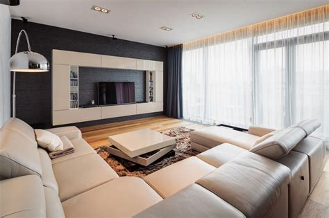 Freshome Living Room by Two Story Penthouse Apartment Boasting A Gorgeous