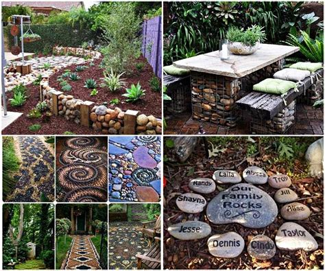 easy backyard projects easy diy garden projects with stones quiet corner