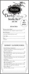 2013 kentucky derby menu merchant
