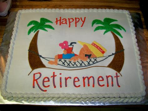 Retirement Cake Decorations by In Hammock Retirement Cake On Cake Central S