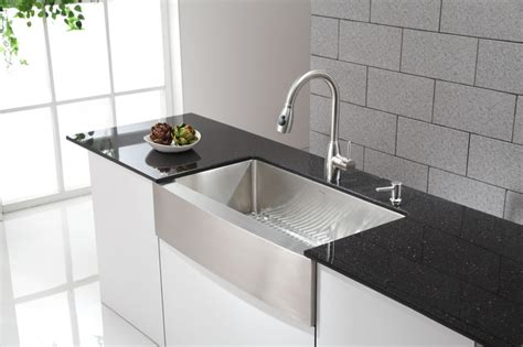 kraus 36 apron sink kraus khf200 36 apron front sink with kpf2130 stainless