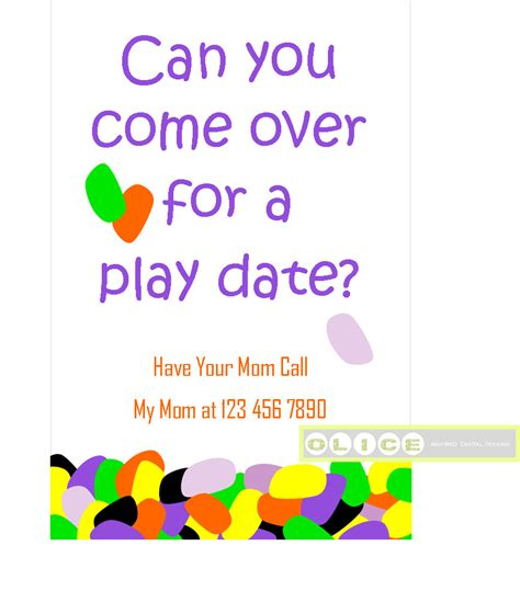 play date play date invitation cards school playdate invitation play