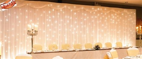 sheer curtains with lights in them diy lighted backdrop weddingbee