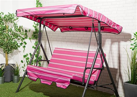 2 seater garden swing replacement canopy pink stripe waterproof 2 seater replacement canopy for