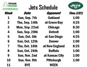 printable ny jets schedule 2015 jets schedule new york jets schedule 187 printable brackets