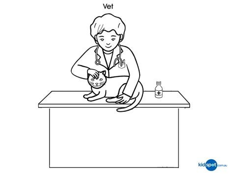 coloring pages veterinarian printables vet colouring