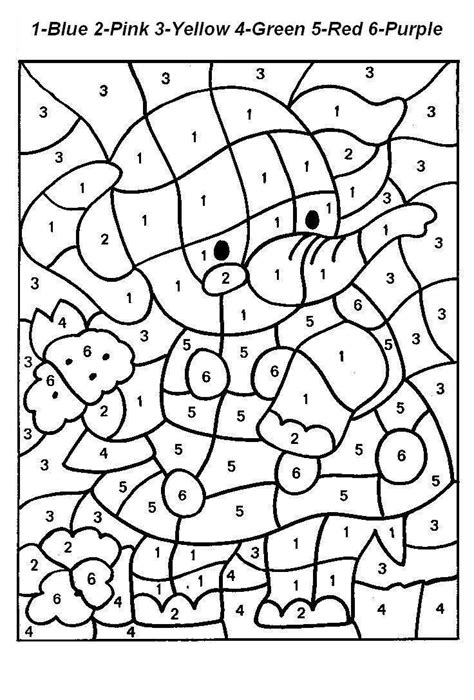 cute number coloring pages free printable color by number code coloring pages for