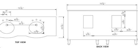 Plumbing In Measurements by 72 Inch Vanity Sink Vanity Sink