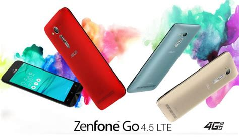 Asus Zenfone Go 4 5 Zb450kl asus launched zenfone go 4 5 lte zb450kl with 100 gb