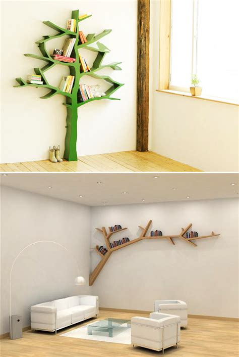 funky storage solutions tree branch shelves captivatist