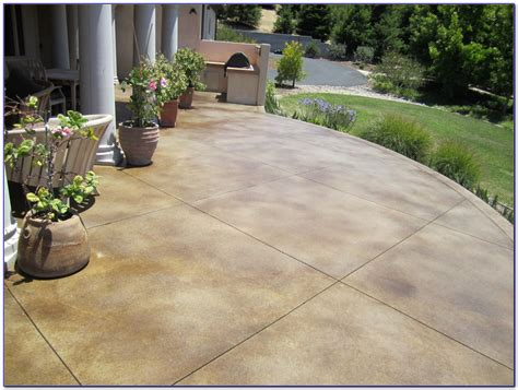 Stained Concrete Patio Designs Design Concrete Patio