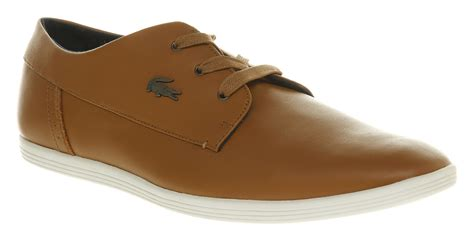 lacoste oxford shoes lacoste aylmer oxford snkr leather in brown for lyst