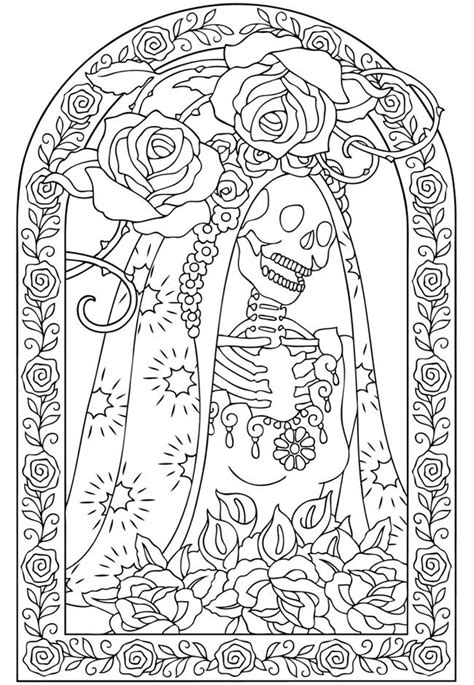 quot day of the dead quot coloring page dia de los muertos