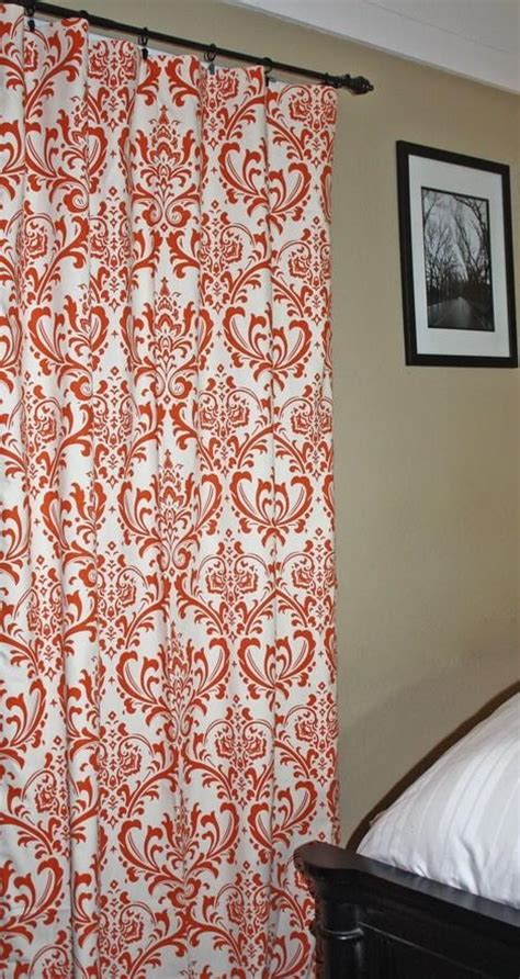 orange printed curtains orange print curtains to go with my future blue room