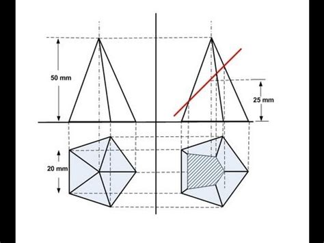 section of solids section of solids pentagon pyramid youtube