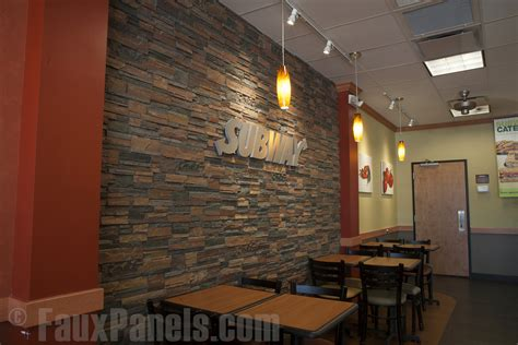 Faux Stacked Panels Interior by Enhance Restaurant Interior Design Creative Faux Panels