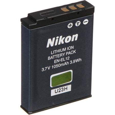 Nikon En El12 Rechargeable Li Ion Battery For Coolpix Terbaru nikon en el12 rechargeable li ion battery pack 25780