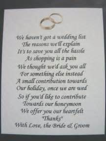 40 wedding poems asking for money gifts not presents ref