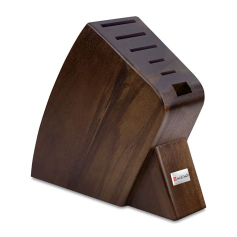 wusthof classic ikon seven piece block set walnut at in stock ships in 24 hours