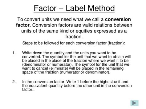 Unit Conversions And Factor Label Method Worksheet Answers by Factor Label Method