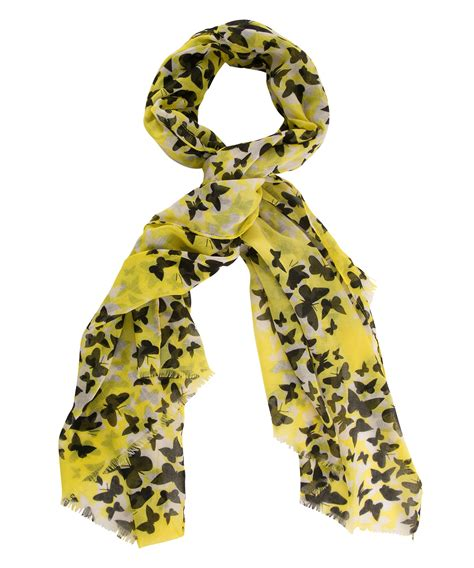 3 Way Scarf Green Butterfly yellow butterfly scarf rickis