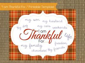 thankful template i am thankful for printable thanksgiving template
