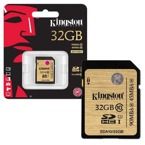 Memory Class 10 32gb kingston sd sdhc memory card uhs i 90mb s ultimate