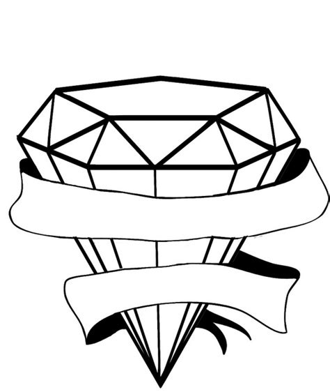diamond tattoo stencil diamond stencil clipart best