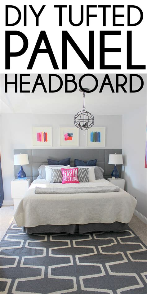 how to make a panel headboard diy tufted panel headboard remodelaholic bloglovin