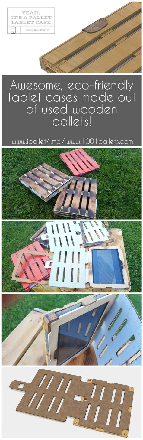 laser cut recycled pallet tablet case  pallets