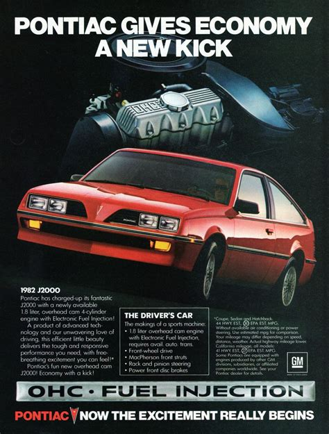 1982 Pontiac J2000 by 1982 Pontiac J2000 Hatchback Ad Caign