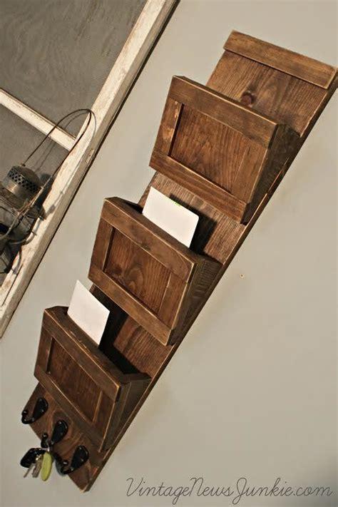ana white wood mail sorter  key hooks diy projects