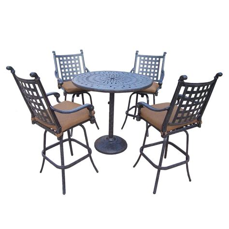 Hampton Bay Vichy Springs 7 Piece Patio High Dining Set FRS80589AH ST   The Home Depot