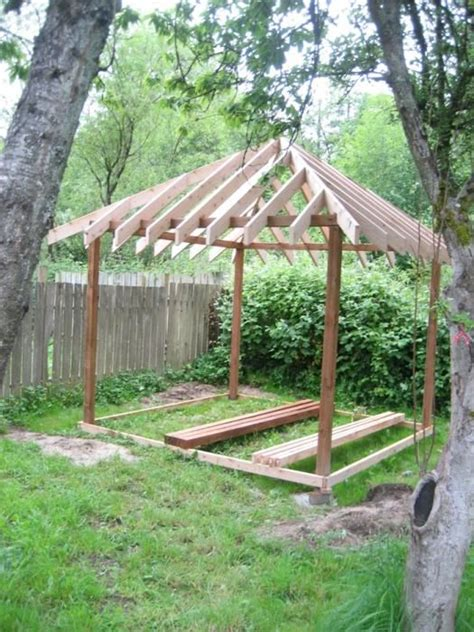 Hip Roof Pavilion Plans Building A Gazebo In My Back Yard A 10 X10 Square 4 Hip