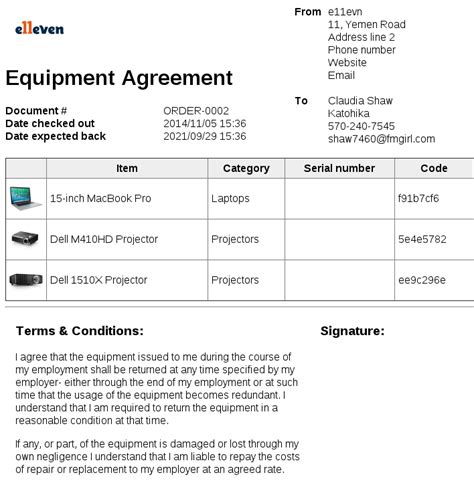 demo agreement template pretty equipment loan form template pictures inspiration