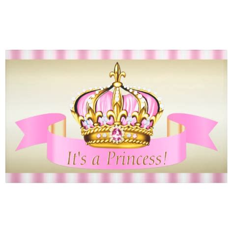 Princess Baby Shower Banner by Pink Gold Princess Crown Baby Shower Banner Zazzle