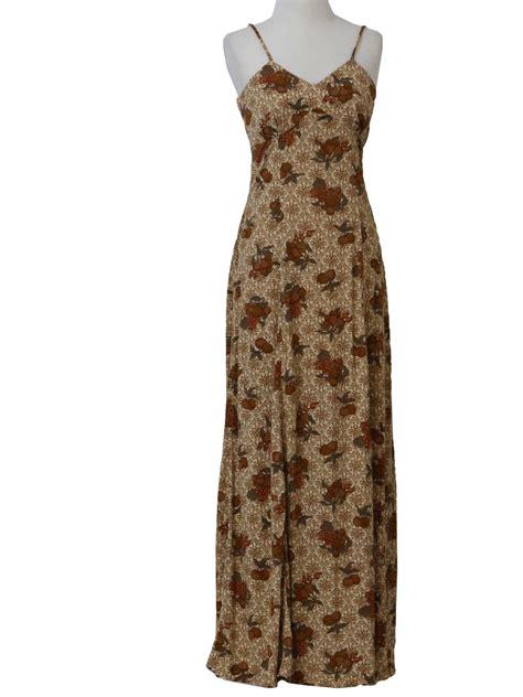 70s Charmer by 1970 S Retro Dress 70s California Charmer Womens Beige