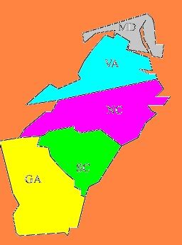 southern colonies map southern colonies thinglink