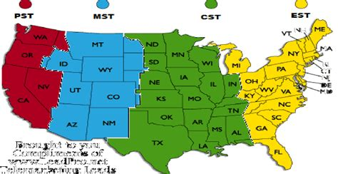 Usa Timezone Map by Time Zone Chart New Calendar Template Site