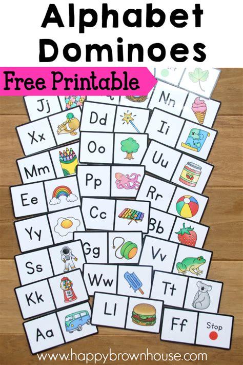 printable alphabet games free alphabet dominoes free homeschool deals