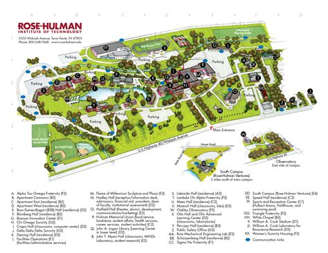 printable maps and directions printable cus map cus map and directions rose hulman