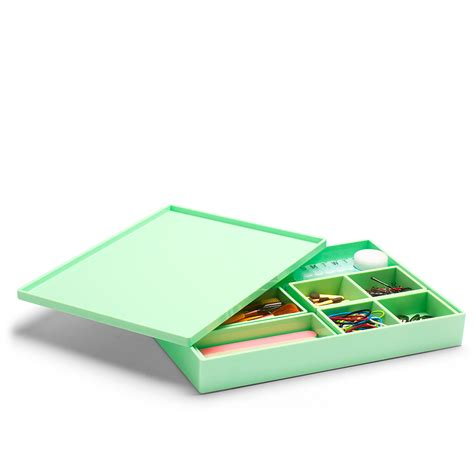 Poppin Mint Large Slim Tray Modern Desk Accessories Poppin Desk Accessories