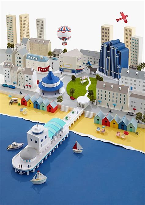 How To Make A 3d Paper City - 25 best ideas about isometric paper on