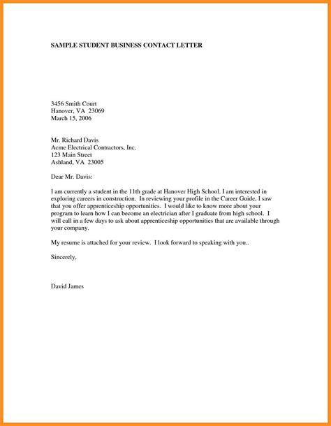 8 formal letters exles for students mystock clerk